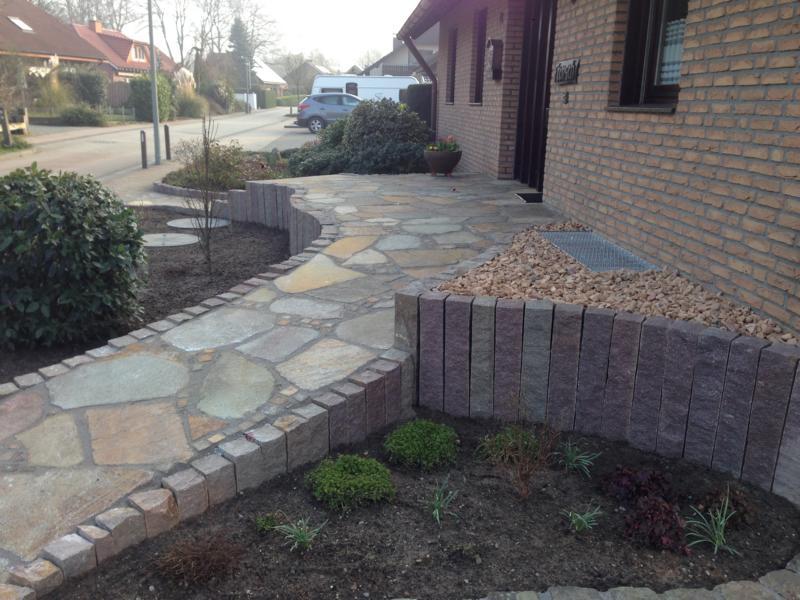 Steinarbeiten Eingang Korte Garten- und Landschaftsbau