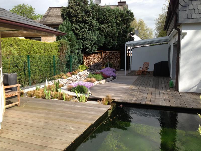 Teichumgebung Holz Korte Garten- und Landschaftsbau