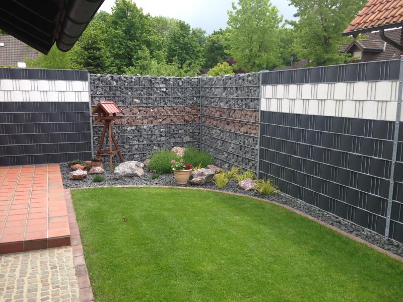 Zaunbau Steine Sichtschutz Korte Garten- und Landschaftsbau