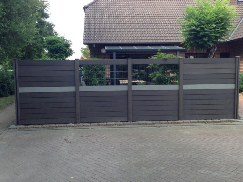 Zaunbau mit Fenster Korte Garten- und Landschaftsbau