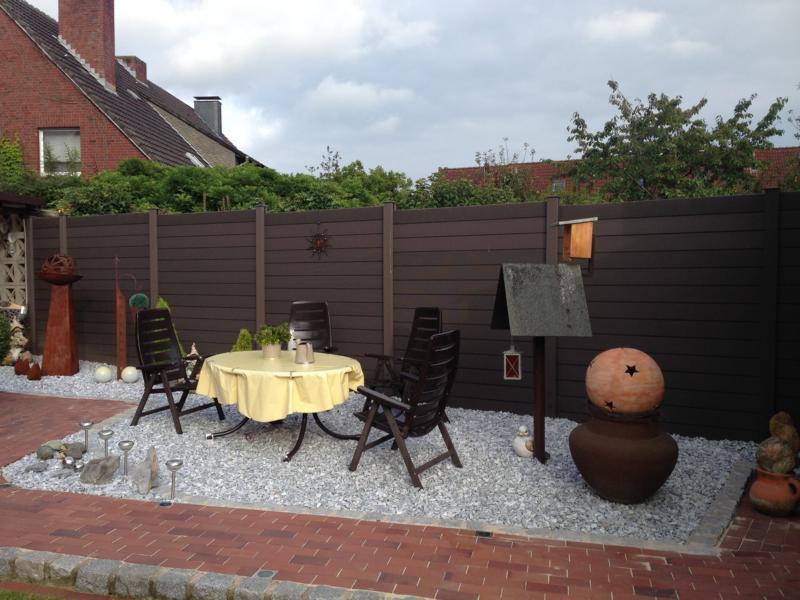 Zaunbau Steinbeet Sitzecke Korte Garten- und Landschaftsbau