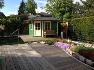 Holzarbeiten Teich Korte Garten- und Landschaftsbau