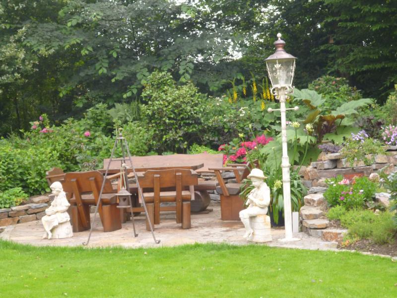 Sitzecke Holz Korte Garten- und Landschaftsbau