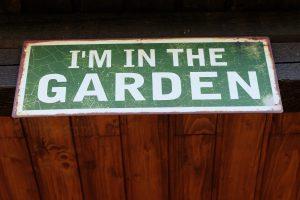 Schild I'm in the garden Korte Garten- und Landschaftsbau